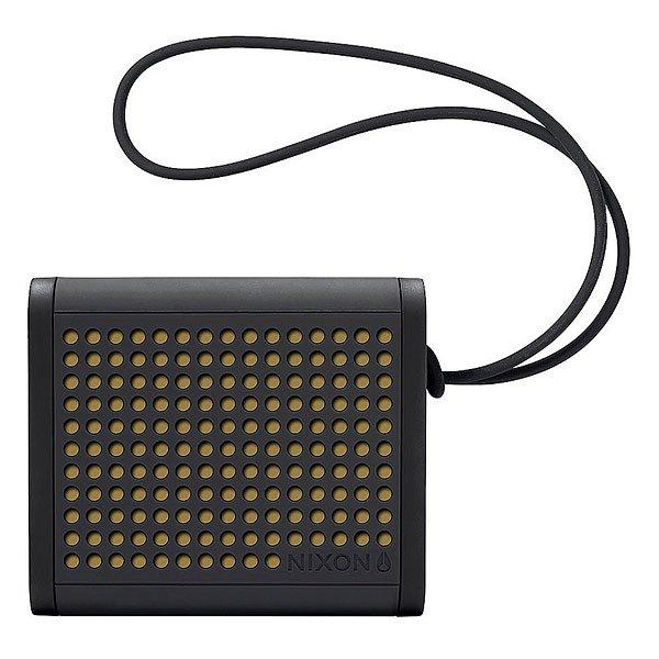 Колонка Nixon Mini Blaster Black/GoldСделайте свою жизнь более насыщенной с  ясным, четким звуком, Bluetooth технологиями и отличным дизайном.Технические характеристики: Bluetooth подключение позволяет слушать музыку без проводов.Беспроводной диапазон - 10 метров.Мощность - <br>3В RMS x 2.Частота - 200 - 20000 Гц.Водонепроницаемые и ударопрочные.Возможно соединить два динамика для стерео звука. Аккумуляторная батарея с дополнительной емкостью до 10 часов.В комплект входит - USB кабель для зарядки, AUX аудио кабель,USB адаптер.<br><br>Цвет: желтый,черный<br>Тип: Колонка