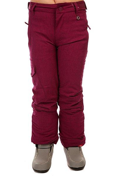 Штаны сноубордические детские Roxy Tonic Girl Pt G Snpt Magenta PurpleТеплые сноубордические штаны классического кроя из влагоотводящего материала, готовые к любым погодным условиям. Мембранная ткань Dry Flight 10K, проклеенные критические швы и утеплитель не дадут Вам замерзнуть и промокнуть, позволяя полностью сконцентрироваться на приятном катании. Характеристики:Водостойкая и дышащая мембрана Dry Flight 10K.Утеплитель 40 г. Подкладка из тафты.Классический крой. Проклеенные критические швы. Регулируемая талия.Края штанин на кнопке с системой фиксации длины. Сетчатые карманы для вентиляции. Снегозащитные гетры из тафты. Держатель для ски-пасса.<br><br>Цвет: фиолетовый<br>Тип: Штаны сноубордические<br>Возраст: Детский