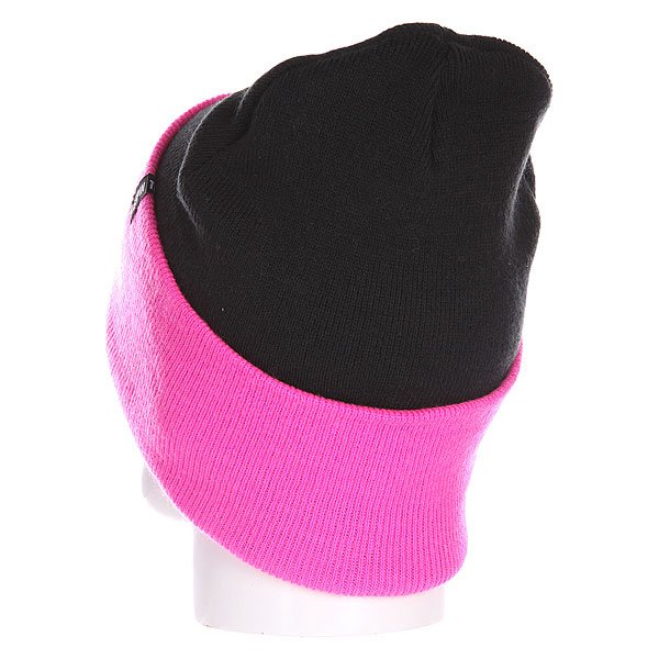 Шапка Truespin Neon 2 Tone Roll Up Black Neon Pink от Proskater