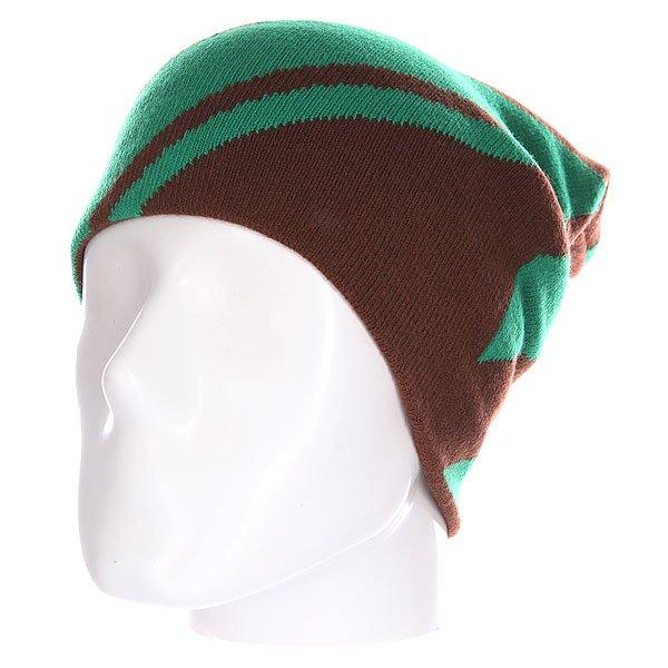 Шапка носок Truespin Lines Brown Turq<br><br>Цвет: коричневый,зеленый<br>Тип: Шапка носок<br>Возраст: Взрослый<br>Пол: Мужской