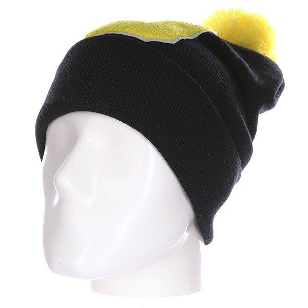 Шапка Truespin Abc Pompom Beanie Black/Yellow D