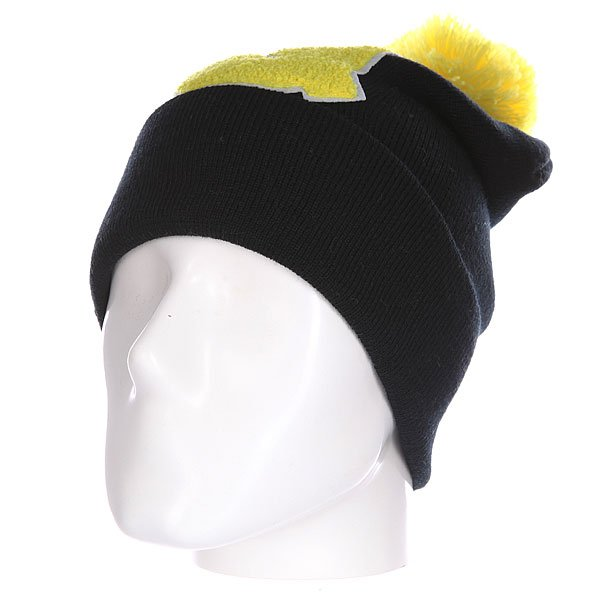 Шапка Truespin Abc Pompom Beanie Black/Yellow Q