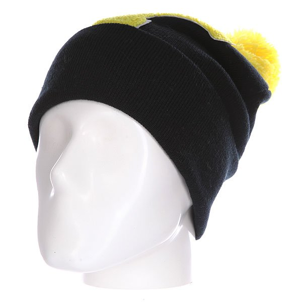 Шапка Truespin Abc Pompom Beanie Black/Yellow Y