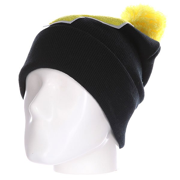 Шапка Truespin Abc Pompom Beanie Black/Yellow P