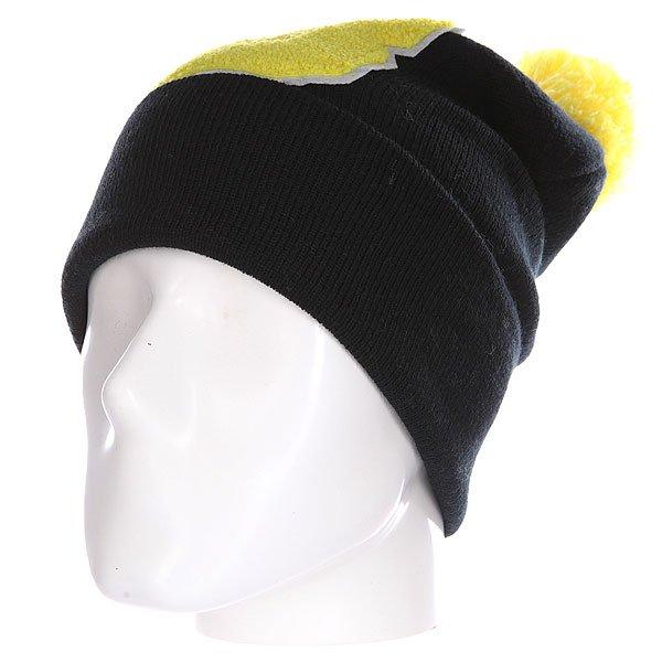 Шапка Truespin Abc Pompom Beanie Black/Yellow B<br><br>Цвет: черный,желтый<br>Тип: Шапка<br>Возраст: Взрослый<br>Пол: Мужской