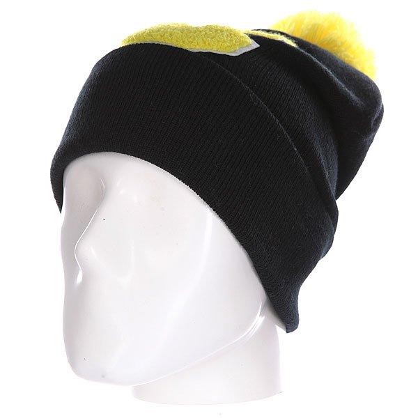 Шапка Truespin Abc Pompom Beanie Black/Yellow C<br><br>Цвет: черный,желтый<br>Тип: Шапка<br>Возраст: Взрослый<br>Пол: Мужской