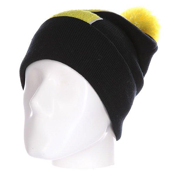Шапка Truespin Abc Pompom Beanie Black/Yellow Z<br><br>Цвет: черный,желтый<br>Тип: Шапка<br>Возраст: Взрослый<br>Пол: Мужской