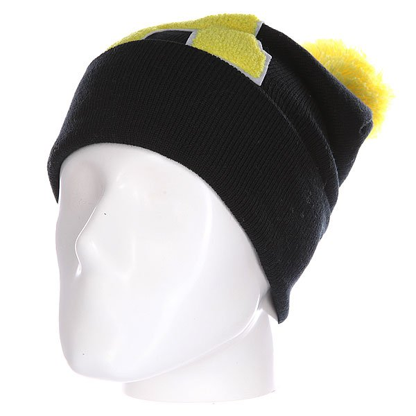 Шапка Truespin Abc Pompom Beanie Black/Yellow A