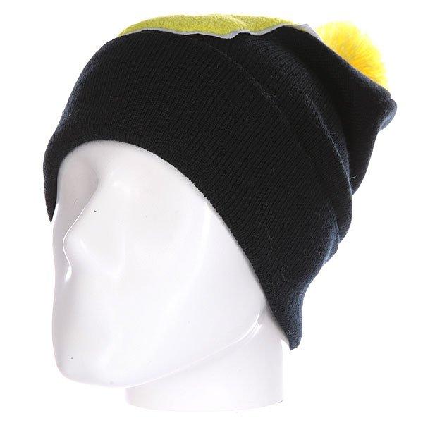 Шапка Truespin Abc Pompom Beanie Black/Yellow U<br><br>Цвет: черный,желтый<br>Тип: Шапка<br>Возраст: Взрослый<br>Пол: Мужской