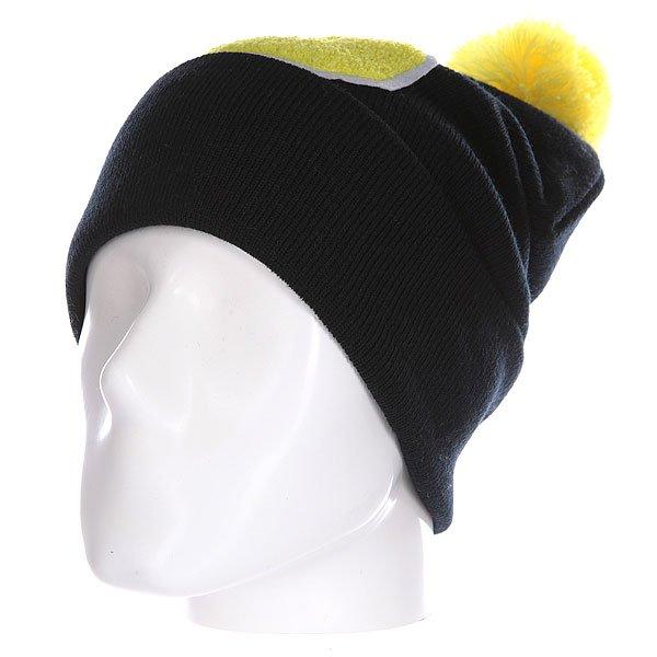 Шапка Truespin Abc Pompom Beanie Black/Yellow S<br><br>Цвет: черный,желтый<br>Тип: Шапка<br>Возраст: Взрослый<br>Пол: Мужской