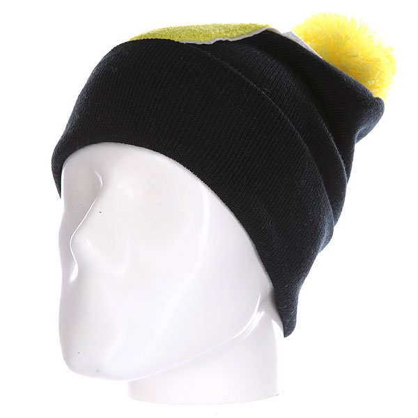 Шапка Truespin Abc Pompom Beanie Black/Yellow J