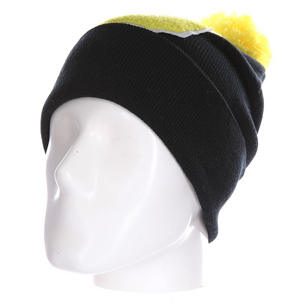 Шапка Truespin Abc Pompom Beanie Black/Yellow G