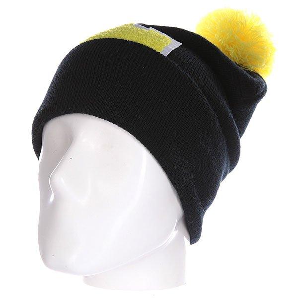 Шапка Truespin Abc Pompom Beanie Black/Yellow L