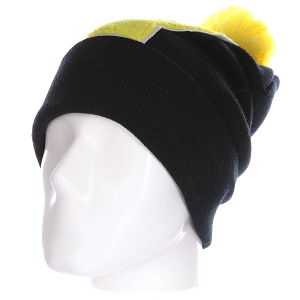 Шапка Truespin Abc Pompom Beanie Black/Yellow V