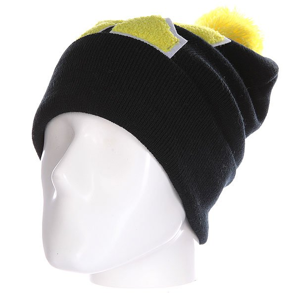 Шапка Truespin Abc Pompom Beanie Black/Yellow K