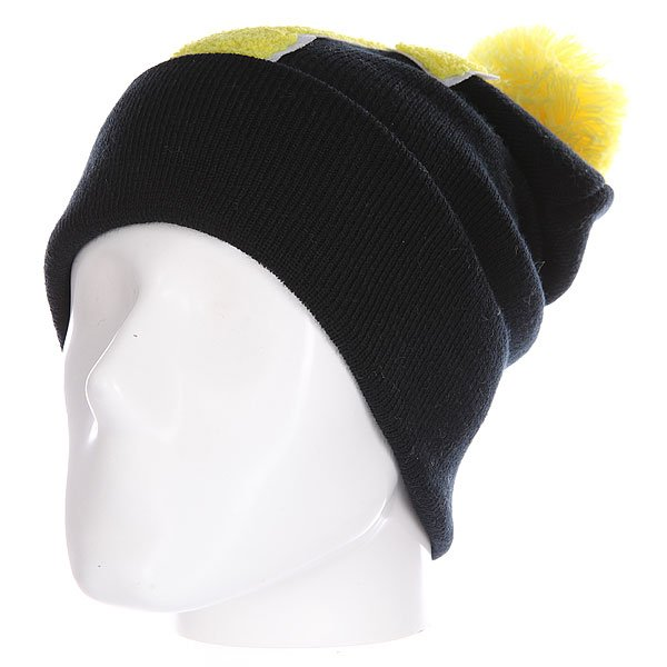 Шапка Truespin Abc Pompom Beanie Black/Yellow T