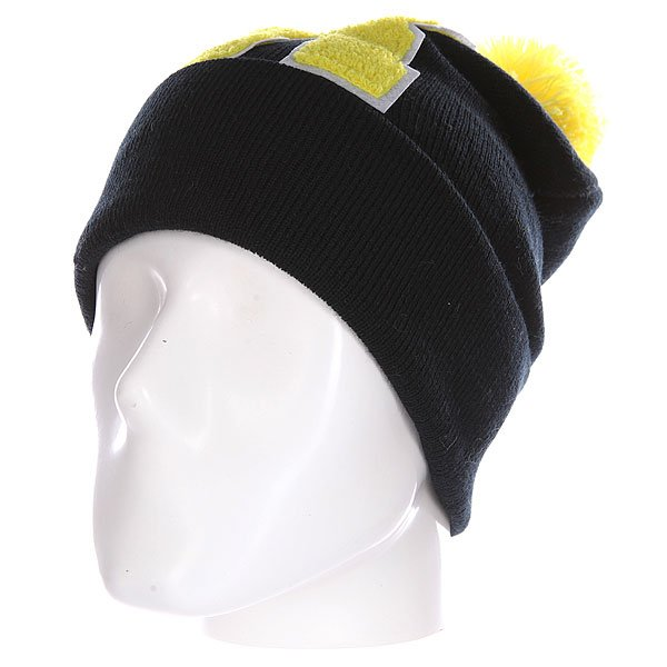Шапка Truespin Abc Pompom Beanie Black/Yellow R