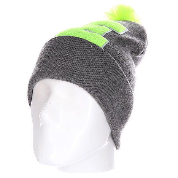 Шапка Truespin Abc Pompom Beanie Grey/Lime E