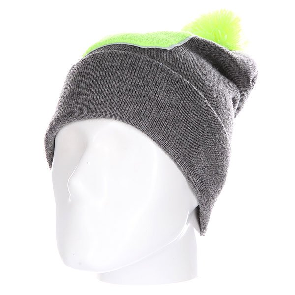 Шапка Truespin Abc Pompom Beanie Grey/Lime D