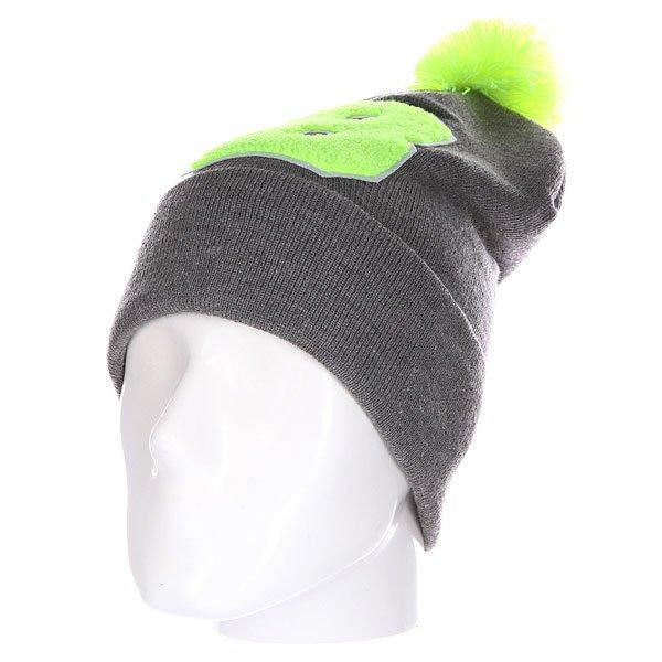 Шапка Truespin Abc Pompom Beanie Grey/Lime B<br><br>Цвет: серый,зеленый<br>Тип: Шапка<br>Возраст: Взрослый<br>Пол: Мужской