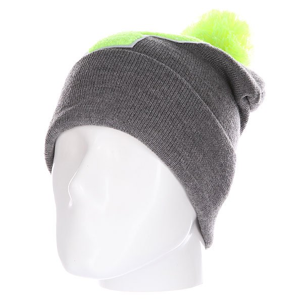 Шапка Truespin Abc Pompom Beanie Grey/Lime P