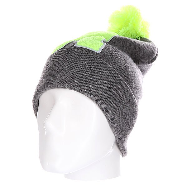 Шапка Truespin Abc Pompom Beanie Grey/Lime R