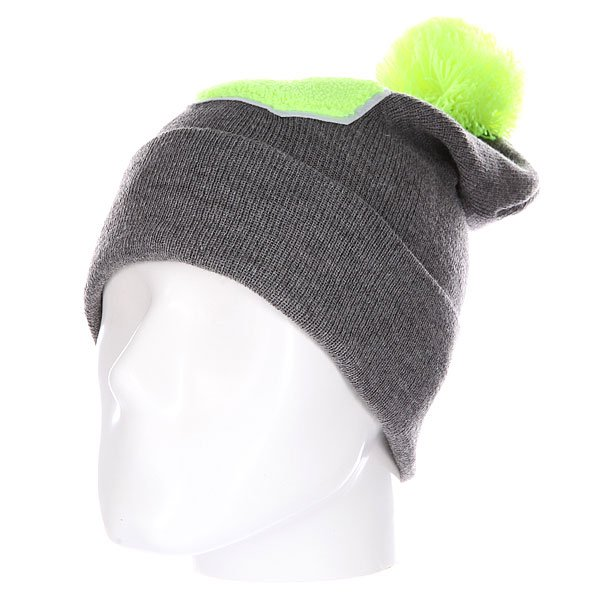 Шапка Truespin Abc Pompom Beanie Grey/Lime S