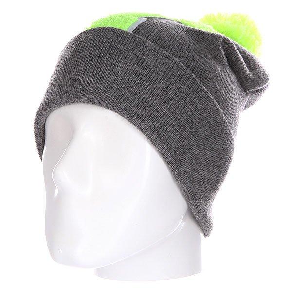 Шапка Truespin Abc Pompom Beanie Grey/Lime T
