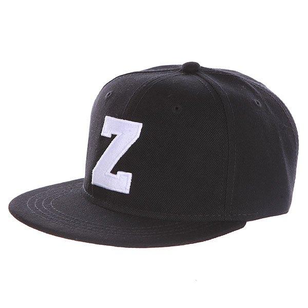 Бейсболка с прямым козырьком Truespin Abc Black Z<br><br>Цвет: черный<br>Тип: Бейсболка с прямым козырьком<br>Возраст: Взрослый