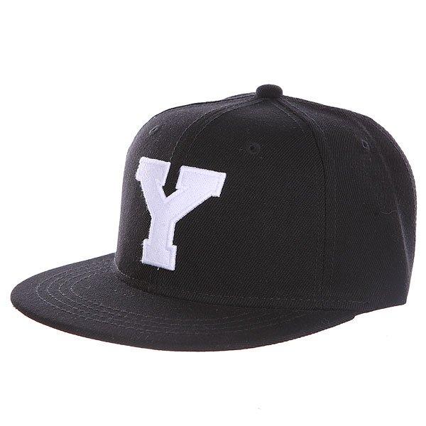Бейсболка с прямым козырьком Truespin Abc Black Y