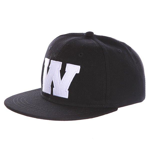 Бейсболка с прямым козырьком Truespin Abc Black W