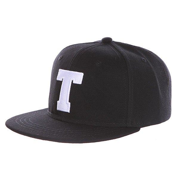 Бейсболка с прямым козырьком Truespin Abc Black T<br><br>Цвет: черный<br>Тип: Бейсболка с прямым козырьком<br>Возраст: Взрослый<br>Пол: Мужской