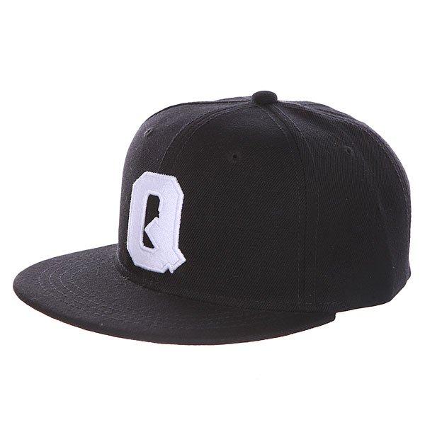 Бейсболка с прямым козырьком Truespin Abc Black Q