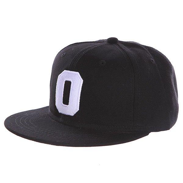 Бейсболка с прямым козырьком Truespin Abc Black O