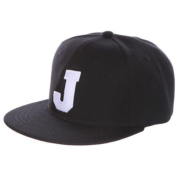 Бейсболка с прямым козырьком Truespin Abc Black J<br><br>Цвет: черный<br>Тип: Бейсболка с прямым козырьком<br>Возраст: Взрослый<br>Пол: Мужской