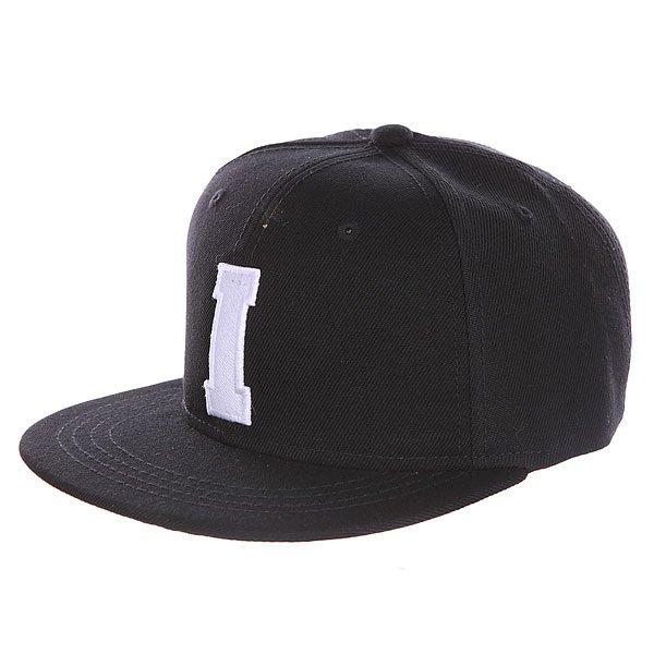 Бейсболка с прямым козырьком Truespin Abc Black I<br><br>Цвет: черный<br>Тип: Бейсболка с прямым козырьком<br>Возраст: Взрослый