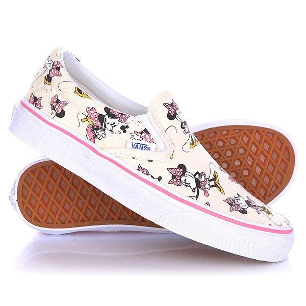 Слипоны женские Vans Classic Slip On Disney Minnie Mouse