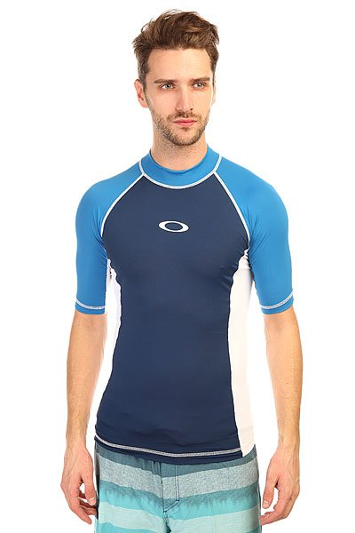 Гидрофутболка Oakley Pressure Rashguard Electric Blue