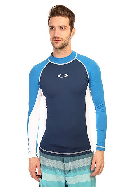 ������������� Oakley Pressure Rashguard Long Electric Blue