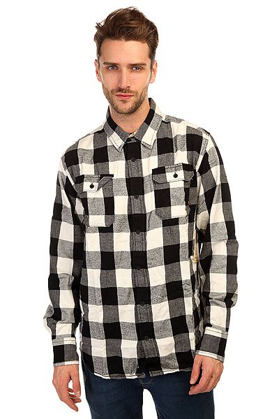 Рубашка в клетку Burton Mb Brighton Ls Vanilla Bell Pld