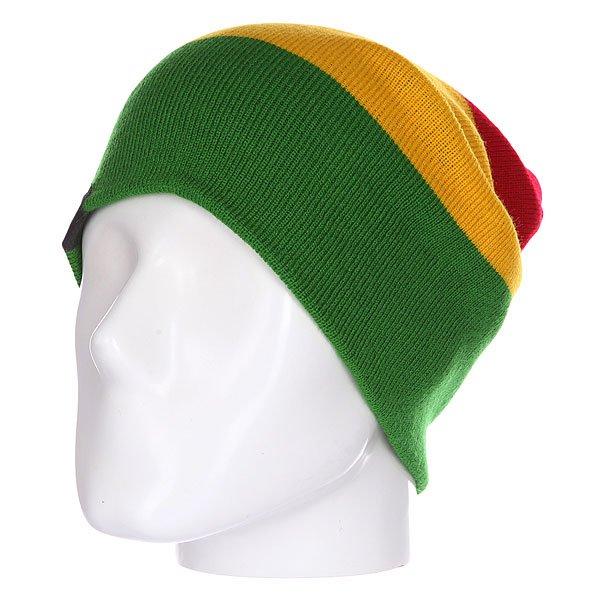 Шапка носок Shweyka Trio Beanie Rasta<br><br>Цвет: красный,желтый,зеленый<br>Тип: Шапка носок<br>Возраст: Взрослый<br>Пол: Мужской