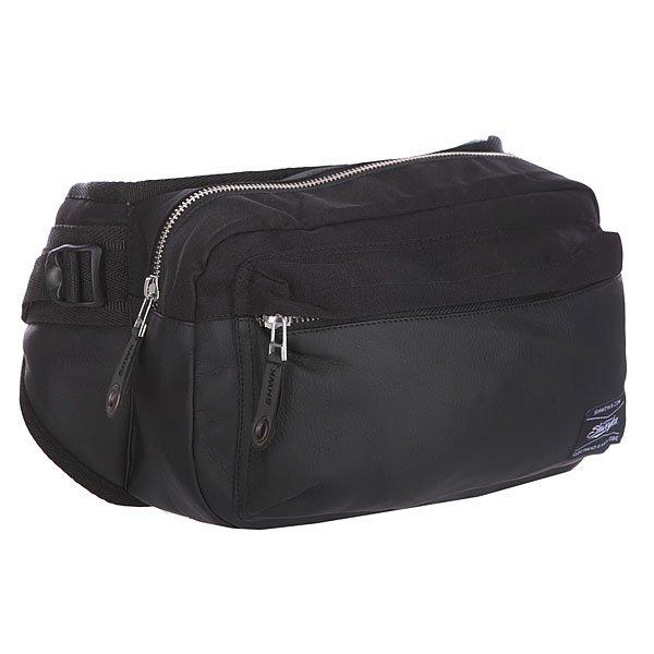 Сумка поясная Shweyka Hippack Black/VynilНовая поясная сумка, сочетает в  себе прочность американской ткани CORDURA 700 DEN и искусственной кожи, отлично подойдет как для длительных поездок так и для повседневного использования. Высокопрочные материалы и практичная форма позволяет носить сумку как на плече так и на поясе.Технические характеристики: Материал: CORDURA 700 DEN.Фурнитура: Высококачественная японская фурнитура YKK.Функционал: 3D сетка с тыльной стороны сумки.Внешний карман на молнии.Основное отделение на молнии.Регулируемый ремень.<br><br>Цвет: черный<br>Тип: Сумка поясная<br>Возраст: Взрослый<br>Пол: Мужской