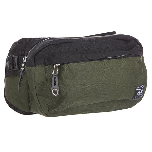Сумка поясная Shweyka Hippack Black/KhakiНовая поясная сумка, сочетает в  себе прочность американской ткани CORDURA 700 DEN и искусственной кожи, отлично подойдет как для длительных поездок так и для повседневного использования. Высокопрочные материалы и практичная форма позволяет носить сумку как на плече так и на поясе.Технические характеристики: Материал: CORDURA 700 DEN.Фурнитура: Высококачественная японская фурнитура YKK.Функционал: 3D сетка с тыльной стороны сумки.Внешний карман на молнии.Основное отделение на молнии.Регулируемый ремень.<br><br>Цвет: черный,зеленый<br>Тип: Сумка поясная<br>Возраст: Взрослый<br>Пол: Мужской