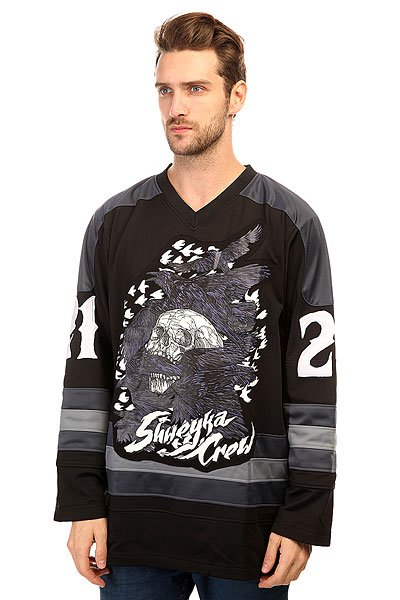 Толстовка сноубордическая Shweyka Hockey Jersey Grey/Black 2015 61 men s hockey jersey