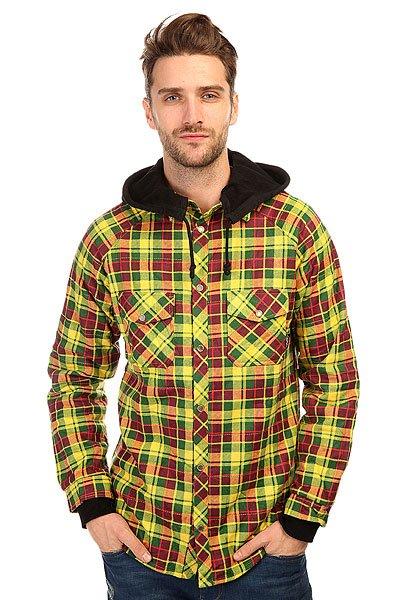 Рубашка в клетку Shweyka Fleece Shirt Rasta<br><br>Цвет: желтый,зеленый,красный<br>Тип: Рубашка в клетку<br>Возраст: Взрослый<br>Пол: Мужской