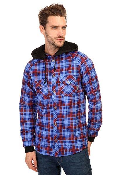 Рубашка в клетку Shweyka Fleece Shirt Blue/Red<br><br>Цвет: синий,голубой,красный<br>Тип: Рубашка в клетку<br>Возраст: Взрослый<br>Пол: Мужской