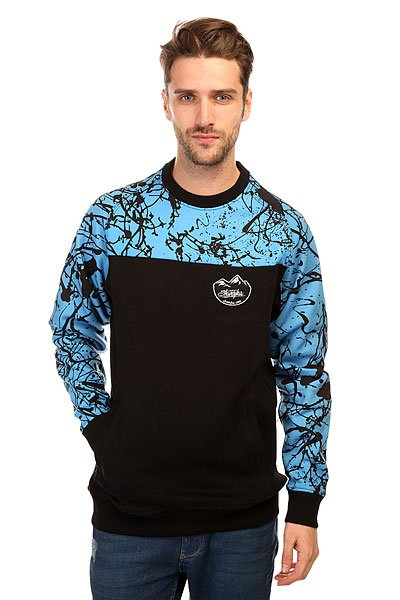 Толстовка сноубордическая Shweyka Blur Crewneck Turquoise/Black<br><br>Цвет: голубой,черный<br>Тип: Толстовка сноубордическая<br>Возраст: Взрослый<br>Пол: Мужской