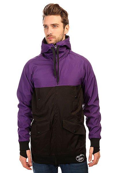 Толстовка сноубордическая Shweyka Fur Hoodie Black/Violet<br><br>Цвет: черный,фиолетовый<br>Тип: Толстовка сноубордическая<br>Возраст: Взрослый<br>Пол: Мужской