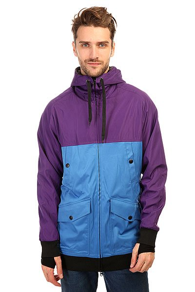 Толстовка сноубордическая Shweyka Fur Hoodie Turquoise/Violet<br><br>Цвет: фиолетовый,голубой<br>Тип: Толстовка сноубордическая<br>Возраст: Взрослый<br>Пол: Мужской
