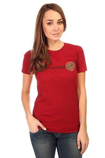 Футболка женская Santa Cruz Classic Dot Scarlet<br><br>Цвет: бордовый<br>Тип: Футболка<br>Возраст: Взрослый<br>Пол: Женский
